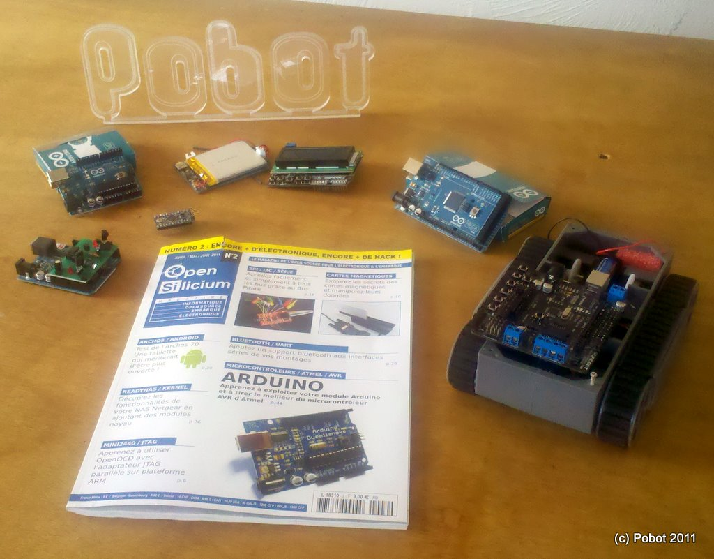 d buter avec une carte arduino pobot. Black Bedroom Furniture Sets. Home Design Ideas