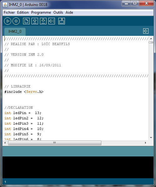 Remote control gui for arduino pobot